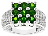 Pre-Owned Green Chrome Diopside Sterling Silver Ring 3.26ctw