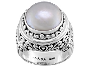 Pre-Owned Pearl Mabe Sterling Silver Ring
