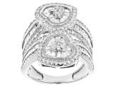 Pre-Owned White Cubic Zirconia Rhodium Over Silver Ring 3.61ctw