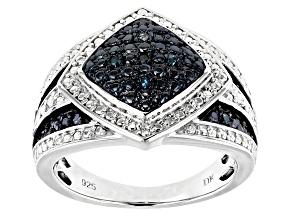 Pre-Owned Blue Velvet Diamond™ Rhodium over Sterling Silver Ring .10ctw