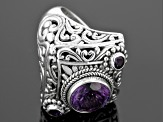 Pre-Owned Purple Amethyst Sterling Silver Ring 2.64ctw