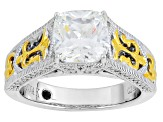 Pre-Owned White Cubic Zirconia Platineve And 18k Yg Over Sterling Silver Ring 2.66ctw