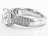 Pre-Owned White Cubic Zirconia Platineve Ring 4.11ctw