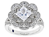 Pre-Owned White Cubic Zirconia Platineve Ring 3.51ctw