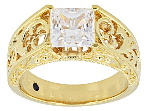 Pre-Owned Cubic Zirconia 18k Yellow Gold Over Sterling Silver Ring 2.79ctw