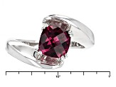 Pre-Owned Purple Rhodolite Sterling Silver Ring 1.50ctw