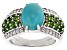 Pre-Owned Blue Turquoise Sterling Silver Ring 1.12ctw