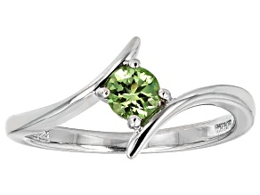 Pre-Owned Green Tsavorite Sterling Silver Ring .32ct