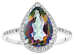 Pre-Owned Multicolor Quartz Sterling Silver Ring 3.78ctw