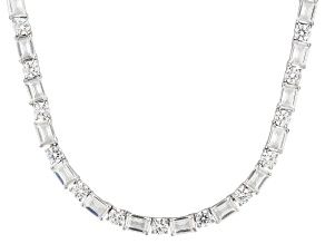 Pre-Owned Cubic Zirconia Sterling Silver Necklace 59.00ctw