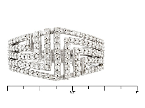 Pre-Owned Diamond Sterling Silver Ring .50ctw