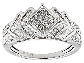 Pre-Owned White Diamond 10k White Gold Ring 1.00ctw
