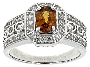 Pre-Owned Brown Zircon Silver Ring 1.72ctw