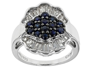 Pre-Owned Blue Sapphire Sterling Silver Ring 2.17ctw