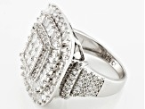 Pre-Owned White Cubic Zirconia Rhodium Over Silver Ring 4.19ctw