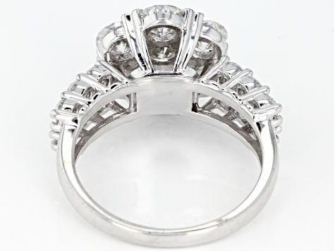 Pre-Owned Moissanite Platineve Ring 3.03ctw D.E.W