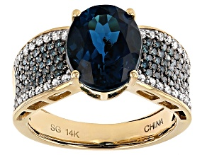 Pre-Owned London Blue Topaz 14k Yellow Gold Ring 4.41ctw