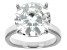 Pre-Owned Moissanite Platineve Solitaire Ring 7.75ctw  DEW