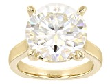 Pre-Owned Moissanite 14k Yellow Gold Over Silver Ring 7.75ctw DEW