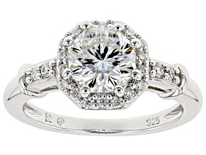 Pre-Owned Moissanite Platineve Ring 1.64ctw D.E.W