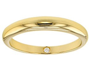 Pre-Owned Moissanite 14k Yellow Gold Over Silver Band .02ct DEW