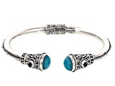 Pre-Owned Blue Amazonite Sterling Silver Bracelet .40ctw