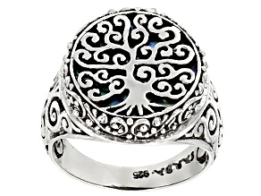 Pre-Owned Multicolor Paua Shell Silver Ring