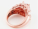 Pre-Owned Cubic Zirconia 18k Rose Gold Over Silver Ring 8.26ctw (4.98ctw DEW)