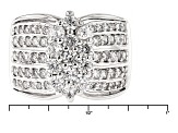 Pre-Owned Cubic Zirconia Silver Ring 2.70ctw (1.39ctw DEW)