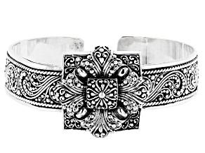 Pre-Owned Sterling Silver Floral Bracelet