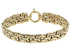 Pre-Owned 10k Yellow Gold Hollow Weave Bracelet