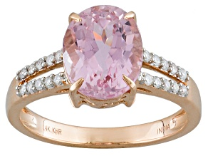 Pre-Owned Pink Kunzite 14k Rose Gold Ring 3.66ctw