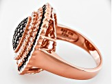 Pre-Owned Brown And White Cubic Zirconia 18k Rose Gold Over Silver Ring 2.66ctw