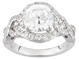 Pre-Owned Cubic Zirconia Silver Ring 5.82ctw (3.48ctw DEW)