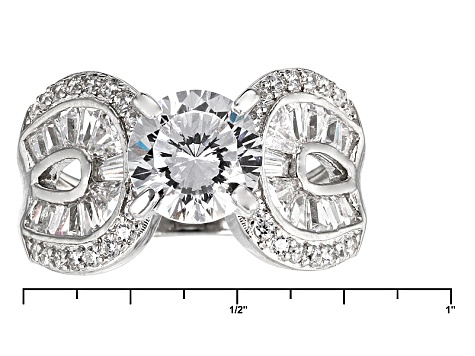 Pre-Owned Cubic Zirconia Silver Ring 5.44ctw (3.72ctw DEW)
