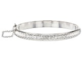 Pre-Owned Sterling Silver Hinged Bangle Bracelet 7 inch