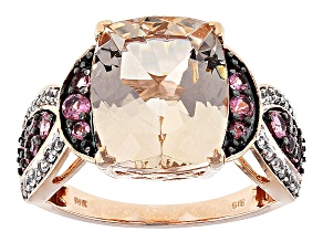 Pre-Owned Pink Morganite 10k Rose Gold Ring 5.19ctw