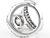 Pre-Owned White Cubic Zirconia Rhodium Over Sterling Silver Ring 9.10ctw