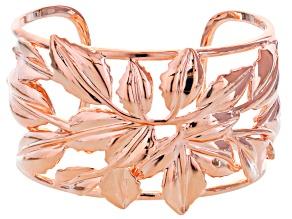 Pre-Owned Copper Floral Cuff Bracelet