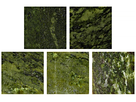 Pre-Owned Green Connemara Marble Leather Cord Pendant