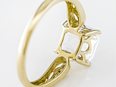Pre-Owned White Danburite 10k Yellow Gold Ring 2.21ctw