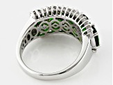 Pre-Owned Green Chrome Diopside Sterling Silver Ring 4.60ctw