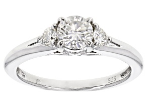 Pre-Owned Moissanite Platineve Ring .80ctw D.E.W