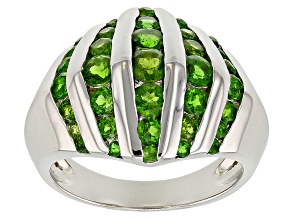 Pre-Owned Green Chrome Diopside Sterling Silver Dome Ring 1.51ctw
