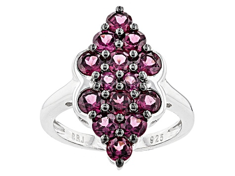 Pre-Owned Purple Rhodolite Sterling Silver Ring 2.62ctw