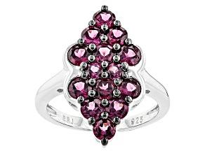 Pre-Owned Purple Rhodolite Sterling Silver Ring 2.62ctw