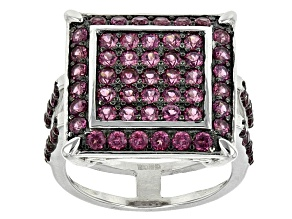 Pre-Owned Purple Rhodolite Sterling Silver Ring 2.46ctw