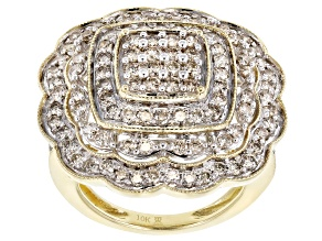 Pre-Owned Candlelight® Diamond 10k Yellow Gold Ring 1.75ctw