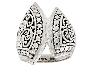 Pre-Owned Sterling Silver Floral Filigree Ring