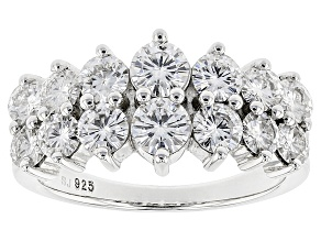 Pre-Owned Moissanite Ring Platineve™ 2.14ctw DEW